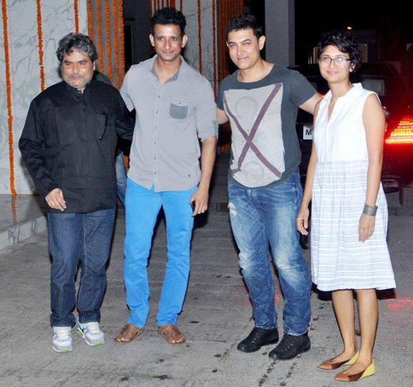 Vishal Bharadwaj, Sharman Joshi, Aamir and Kiran Rao