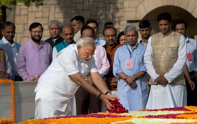 Narendra Modi swearing-in, Rajghat
