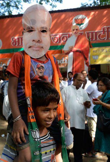 BJP, Shiv Sena celebrate election triumph in Mumbai