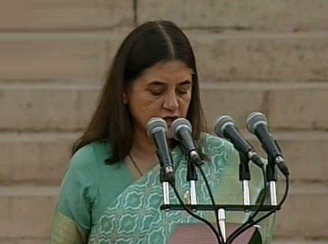 Maneka Gandhi, Team Modi oath ceremony