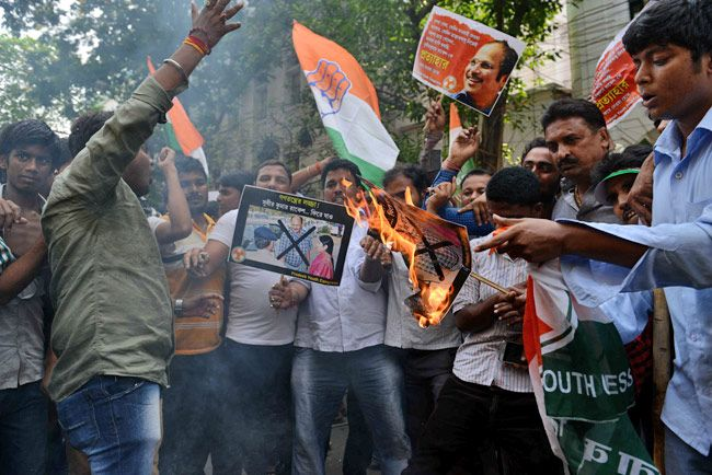 West Bengal Youth Congress protest