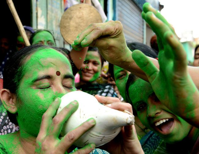 Bengal draped in Trinamool's green