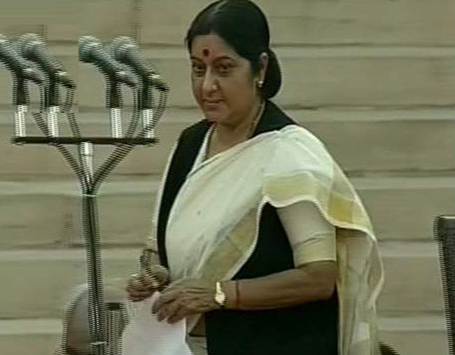 Sushma Swaraj, Team Modi oath ceremony