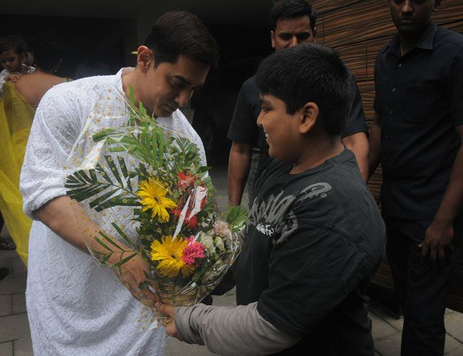 Aamir Khan celebrating Eid
