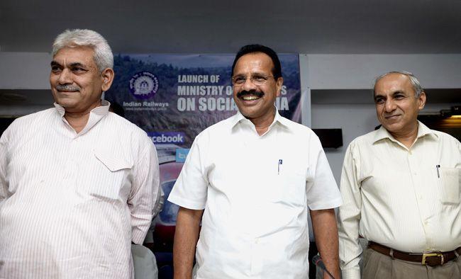 Manoj Sinha, D.V. Sadananda Gowda, Railway website
