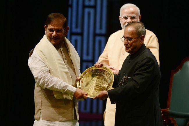 sharad yadav, pranab mukherjee, narendra modi