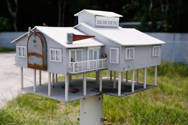 house-shaped mailbox