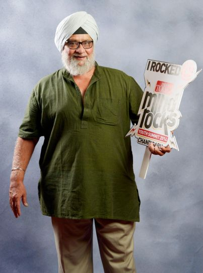 Bishan Singh Bedi in a shoot at the India Today Mind Rocks Youth Summit 2014 in Chandigarh.