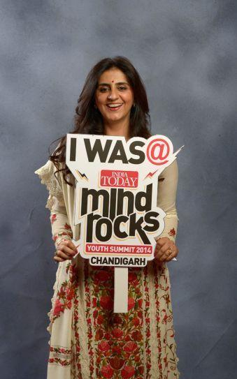 MLA Renuka Bishnoi at India Today Mind Rocks Youth Summit 2014 in Chandigarh.