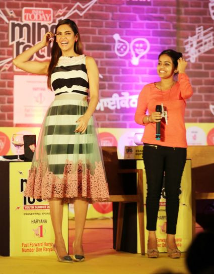Esha Gupta at the India Today Mind Rocks 2014 in Chandigarh.