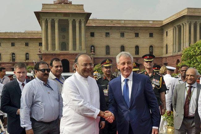 Arun Jaitley and Chuck Hagel