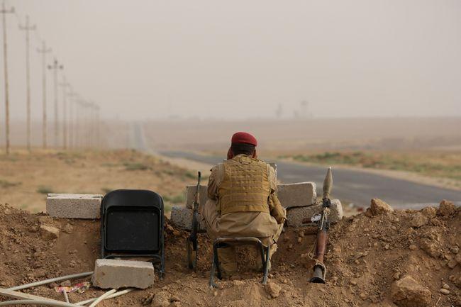 A Kurdish fighter in Mosul
