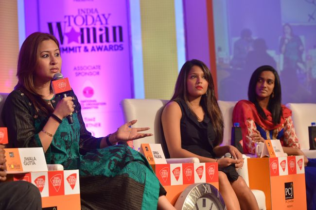 India Today Woman Summit 2014, Jwala Gutta, PV Sindhu, Dipika Pallikal