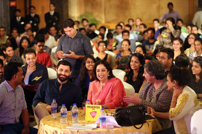 Kirron Kher speaks at the India Today Mind Rocks Youth Summit 2014 held in Chandigarh.
