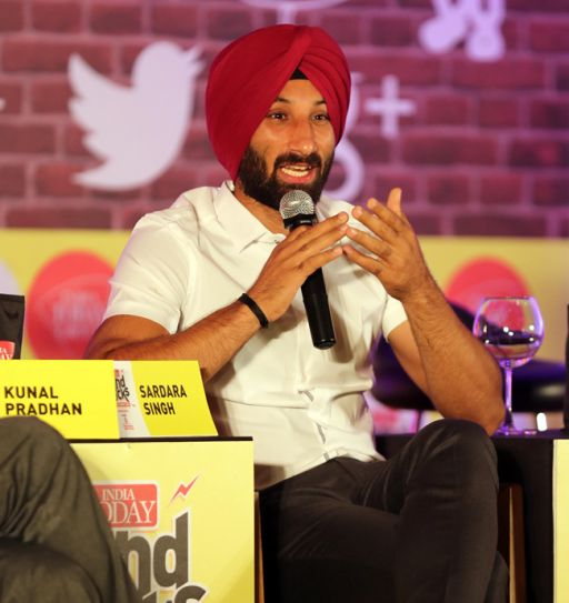 Sardara Singh at the India Today Mind Rocks 2014 in Chandigarh.