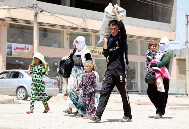 Yazidi women held captive by militants in Iraq