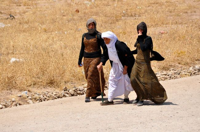 Hundreds of Yazidi women have been taken captive by militants