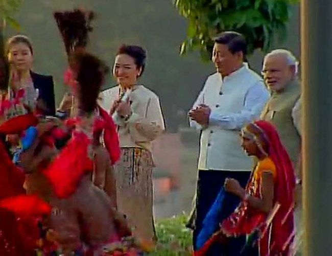 Prime Minister Narendra Modi with Chinese President Xi Jinping and Xi's wife Peng Liyuan