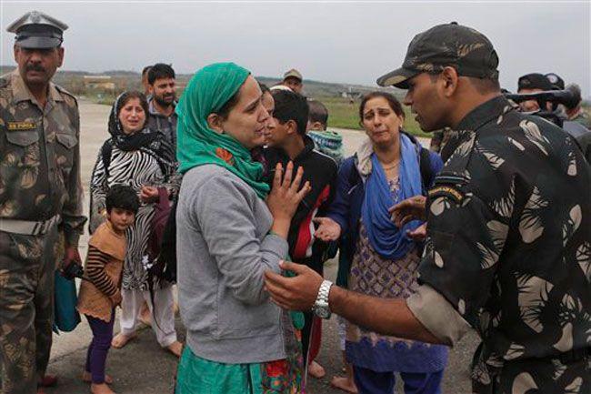 Kashmiri flood victim