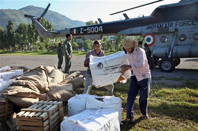 Relief material for flood-affected victims