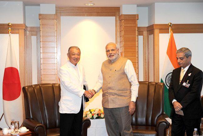 Chairman of Nippon Foundations, Yohei Sasakawa meets Prime Minister Narendra Modi