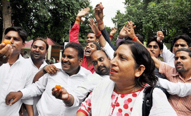 Samajwadi Party supporters