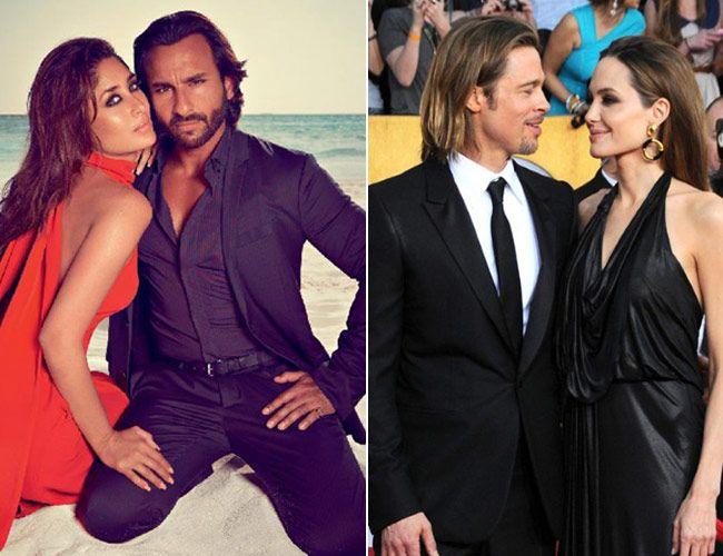 Kareena Kapoor Khan, Saif Ali Khan, Brad Pitt, angelina jolie