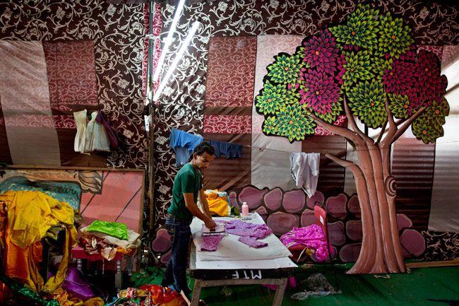 Peek inside the backstage of a Ramlila