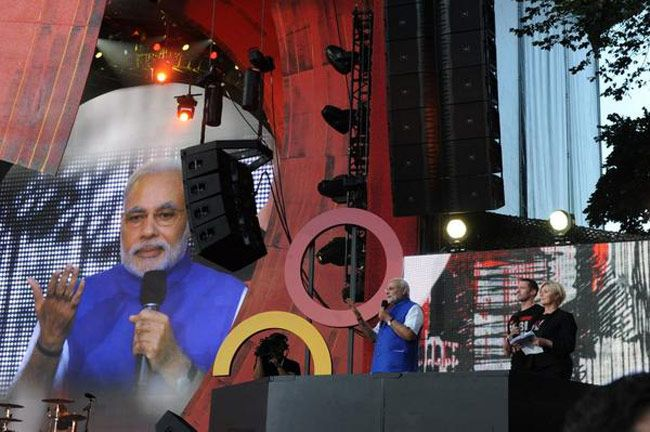 Modi rocks New York