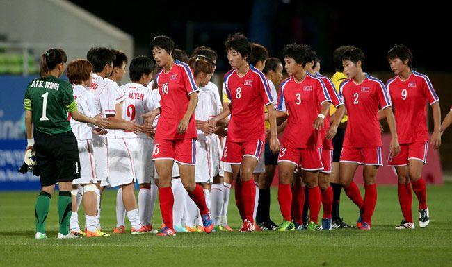 North Korean team
