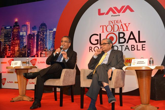 India Today Global Roundtable, Aroon Purie, Jagdish Bhagwati