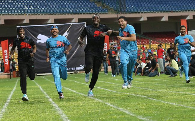 Usain Bolt and Yuvraj Singh