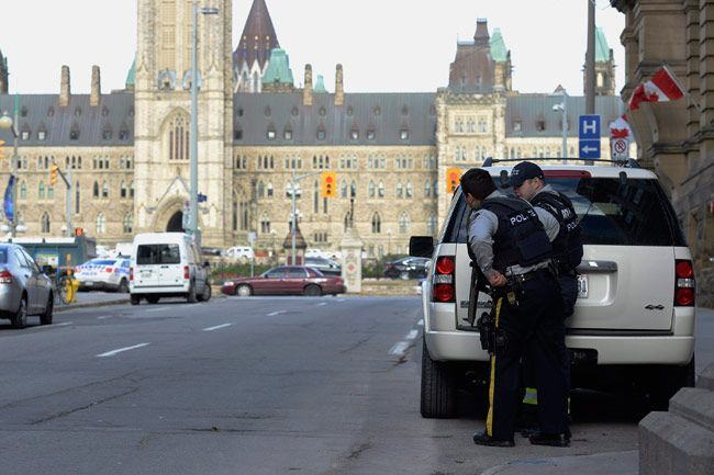 Shooting inside Canadian parliament