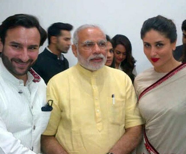 Saif Ali Khan, Narendra Modi and Kareena Kapoor Khan