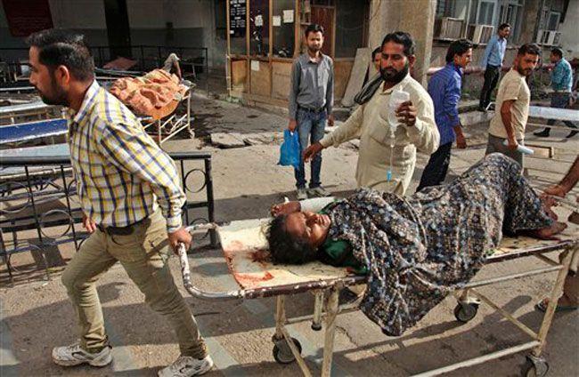 An injured Indian civilian