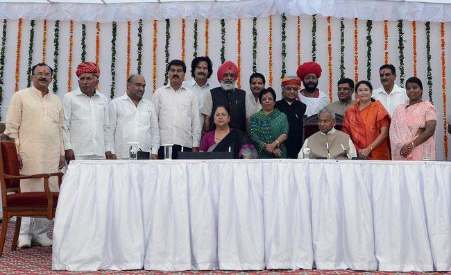 Vasundhara Raje expanded her cabinet.