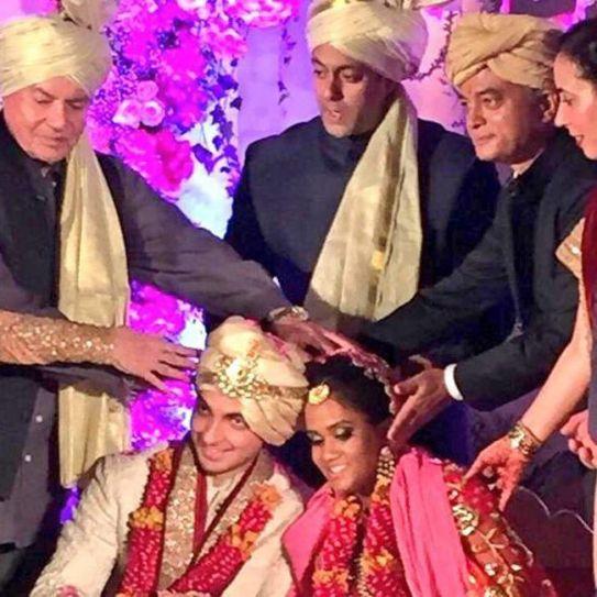 Arpita Khan, Salman Khan, Aayush Sharma