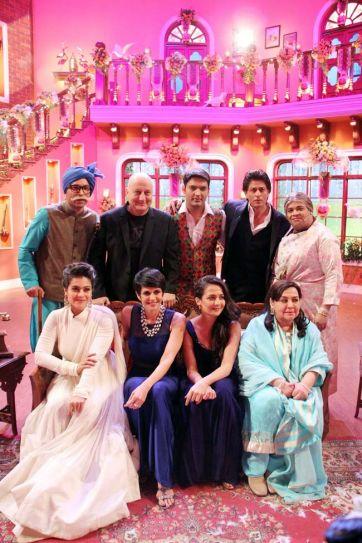 Shah Rukh Khan, Anupam Kher, Kajol, Mandira Bedi, Pooja Ruparel, Farida Jalal, Kapil Sharma, Kiku Sharda