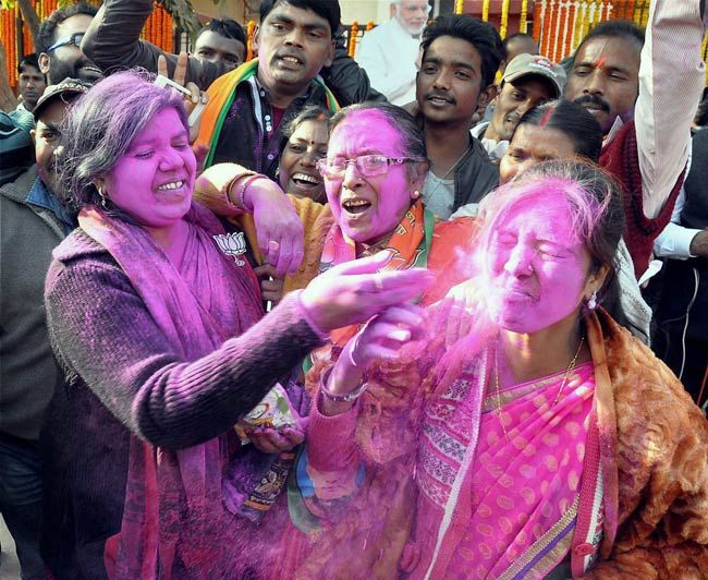 BJP celebrates victory in Jharkhand