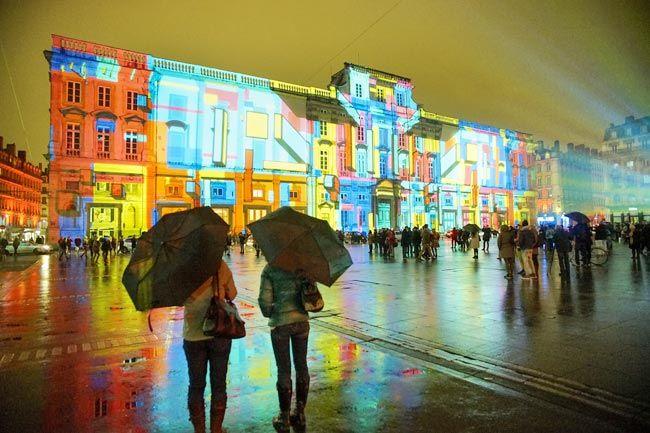 Festival of lights in France