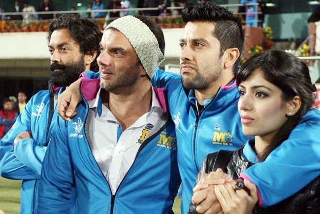 Aftab Shivdasani, Sohail Khan, Bobby Deol, Nin Dusanj