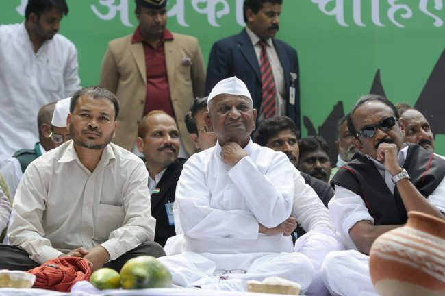 Anna Hazare with his followers