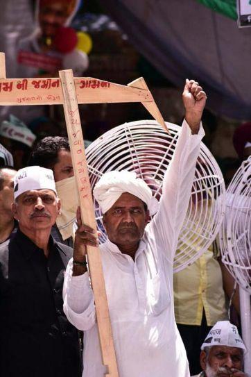 AAP's kisan rally