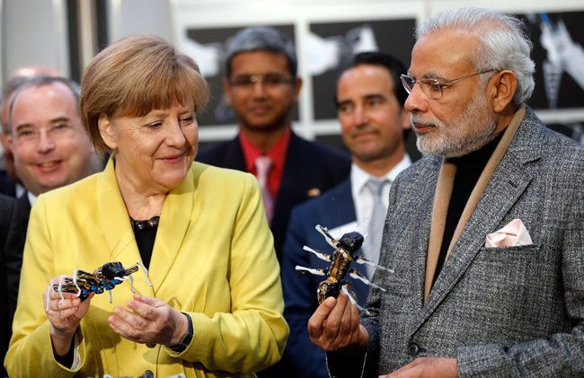 Angela Merkel and Narendra Modi