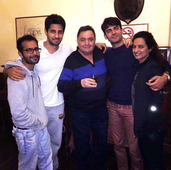 (L-R)Shakun Batra, Sidharth Malhotra, Rishi Kapoor, Fawad Khad, Sadaf Fawad