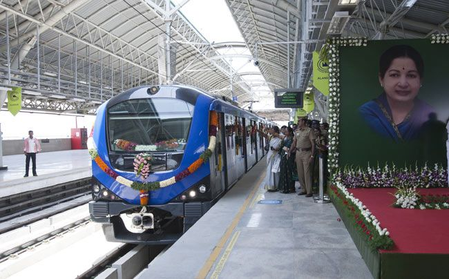 Chennai's first Metro train flagged off