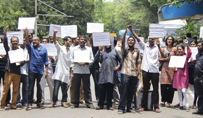 Protest at IIT-M campus