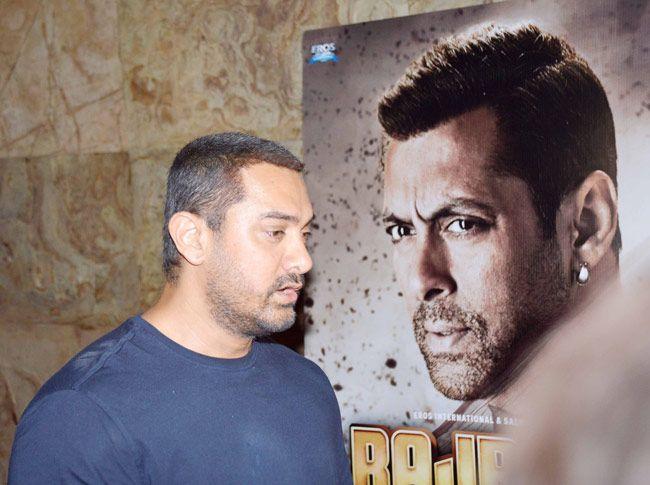 Aamir Khan at Bajrangi Bhaijaan screening