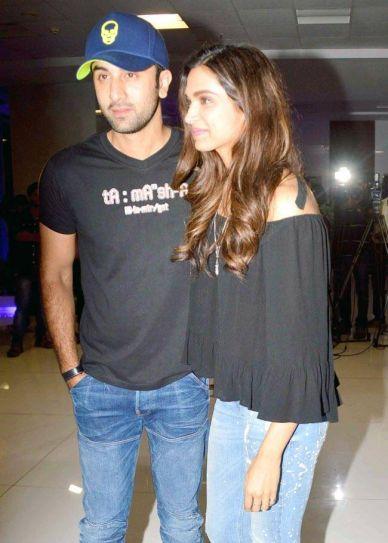 Ranbir Kapoor and Deepika Padukone at Tamasha Party
