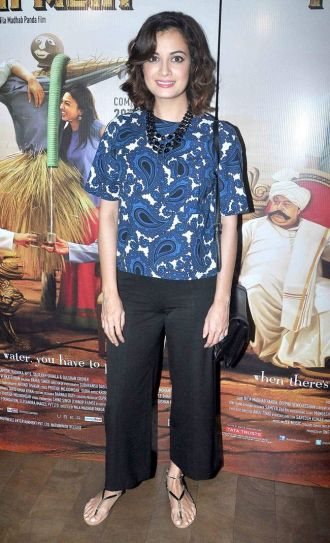 Dia Mirza at Kaun Kitney Paani Mein screening
